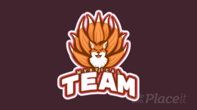 Animated Logo Template for a Gaming Team with a Mystical Fox Creature 21ee-2880