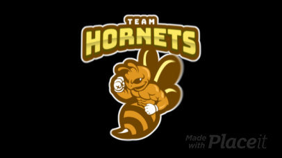 Animated Sports Team Logo Maker Featuring an Angry Bee Graphic 120u-2893
