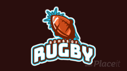 Animated Sports Logo Maker with a Rugby Ball Graphic 1616j-2893