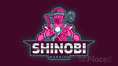 Animated Gaming Logo Maker with a Deadly Ninja Illustration 2718l-2890