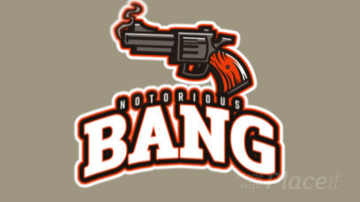 Notorious Animated Logo Maker with a Gun Clipart 523t-2887