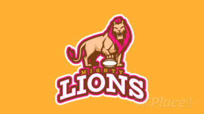 Animated Sports Logo Maker Featuring a Lion with a Football Ball 1651i-2893