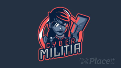 Free Fire-Allusive Animated Logo Creator Featuring a Female Cyber-Soldier 2637s-2891