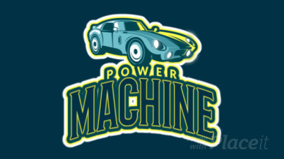 Animated Logo Maker Featuring a Speeding Car Graphic 1745j-2892