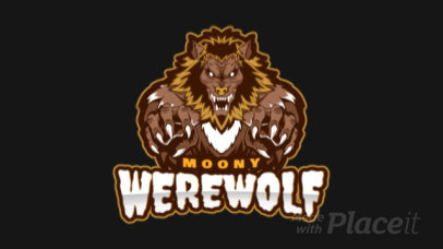 Animated Gaming Logo Maker with a Strong Werewolf Illustration 1749o-2883