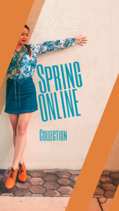 Instagram Story Video Maker for a Spring Collection Post 254d-861