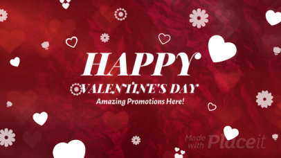 Cool Valentine's Day Intro Maker Featuring Heart Graphics 2033