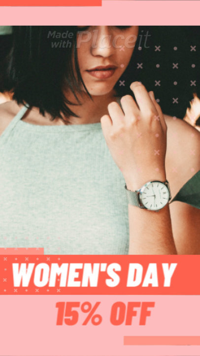 Instagram Story Video Maker for a Women's Day Discount 1370a-87