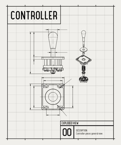 Gaming T-Shirt Design Maker with a Diagram Inspired on a Retro Console Controller 244a-el1