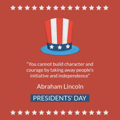 Facebook Post Template with President's Day Quotes 2204