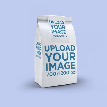 Paper Bag Mockup Featuring a Solid Color Backdrop 2580-el1