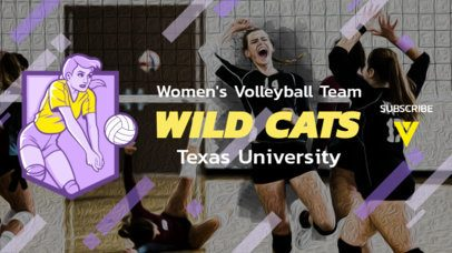 YouTube Banner Maker Featuring a Volleyball Player 2033f-2217