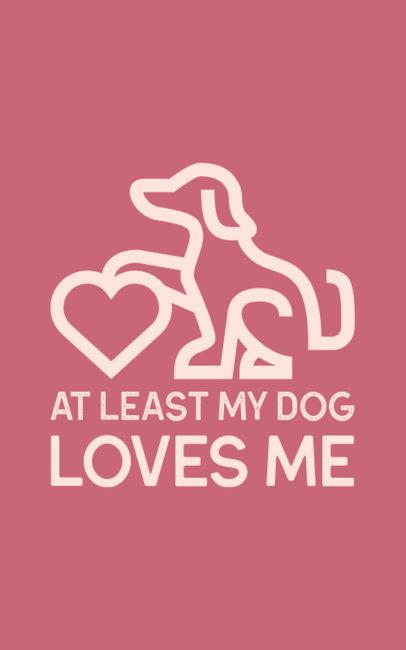 Anti-Valentine's T-Shirt Design Maker Featuring a Dog Silhouette Graphic 703c-el1