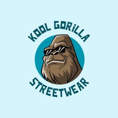 Logo Creator for a Streetwear Brand Featuring a Cool Gorilla 700c-el1