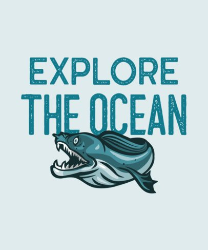 T-Shirt Creator with an Ocean Animal Graphic 705b-el1