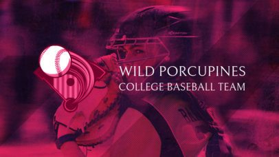 Baseball News YouTube Banner Template with a Female Player 2214c