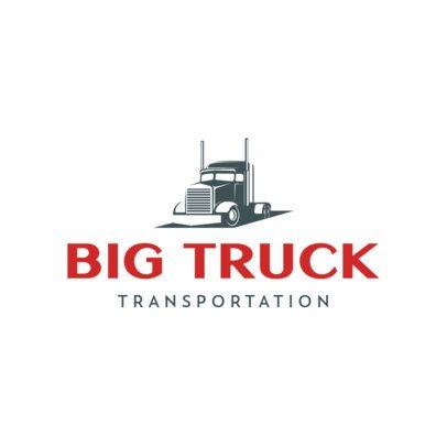 Transportation Company Logo Maker with a Trailer Truck Clipart 695-el1