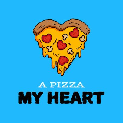Facebook Post Maker Featuring a Heart-Shaped Pizza Slice 2209e-2206