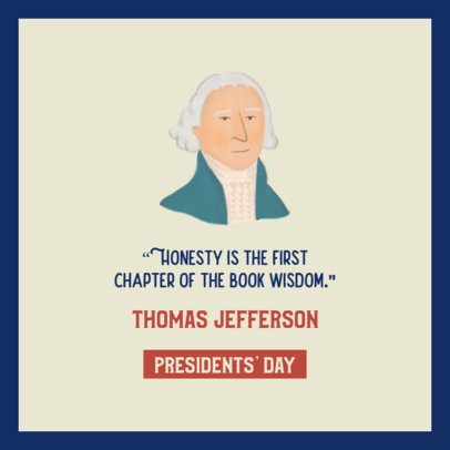 Facebook Post Creator with a Quote by Thomas Jefferson 2204c