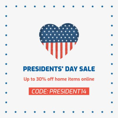 Facebook Post Maker for a President's Day Online Sale 2204d