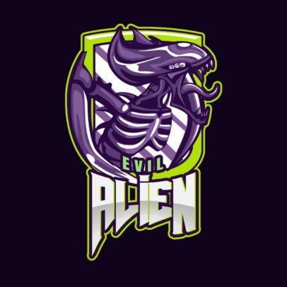 Gaming Logo Maker with a Horrific Alien Clipart 1877u-2927a