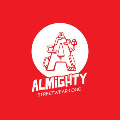 Streetwear Logo Maker with Mechanical Alphabet Letters 260-el1