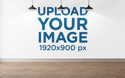 Art Print Wall Mockup Featuring Three Lamps 2706-el1