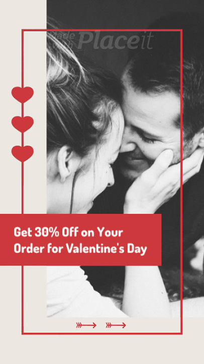 Instagram Story Video Maker for a Valentine's Day Offer 2029