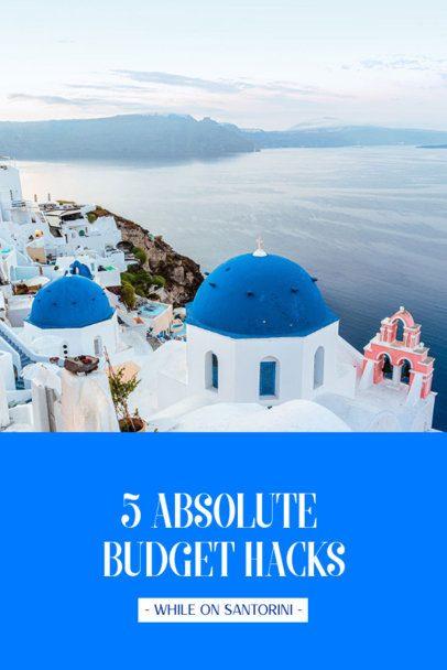Pinterest Pin Creator Featuring Travel Budget Hacks 2245c
