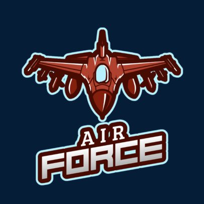Logo Maker for a Gaming Squad Featuring a Jet Graphic 2637v-2926