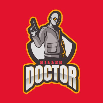 Gaming Logo Maker Featuring an Illustration of a Hitman 2663r-2933