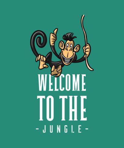 T-Shirt Design Generator Featuring a Monkey Swinging From a Vine 727b-el1