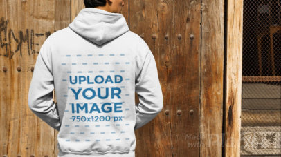 Back-View Video of a Man Wearing a Hoodie 32024