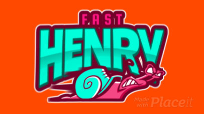 Sports Logo Template Featuring a Fast Snail 120dd-2933