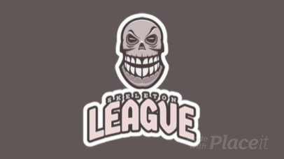 Animated Gaming Logo Maker Featuring a Smiling Skull Graphic 2620r-2935