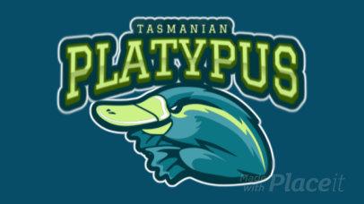 Animated Mascot Logo Creator Featuring a Platypus 120ii-2935