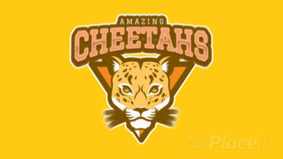 Mascot Logo Template Featuring an Animated Cheetah Graphic 120hh-2935