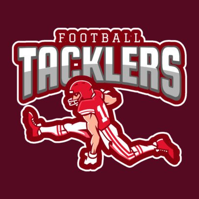 Online Sports Logo Maker Featuring a Football Player 1619n-2931