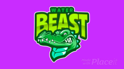 Animated Logo Template with a Fierce-Looking Crocodile Clipart  120ee-2933
