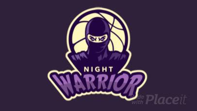 Basketball Logo Maker with an Animated Ninja Warrior Character 336q-2935