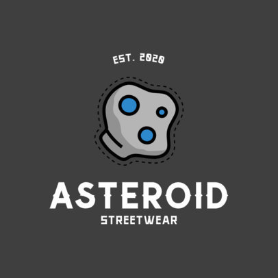 Logo Maker for a Streetwear Apparel Brand with an Asteroid Graphic 753c-el1