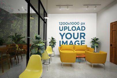 Wallpaper Mockup Featuring a Modern Lobby 2719-el1