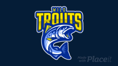 Animated Mascot Logo Maker for Sports Teams With a Wild Trout Illustration 120ii-2932