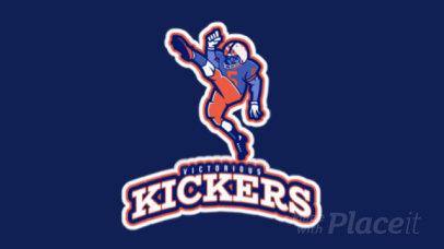 Sports Logo Generator Featuring an Animated Football Player Kicking 245uu-2929