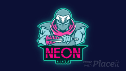 Animated Gaming Logo Template Featuring a Deadly Ninja 2718n-2927