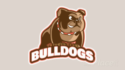 Animated Logo Creator for a Cricket Team Featuring a Bulldog Graphic 1651n-2927