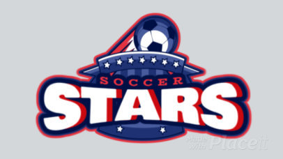 Animated Soccer Team Logo Maker with a Flying Soccer Ball 1748z-2927
