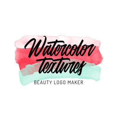 Beauty Logo Template with Watercolor Textures 2922