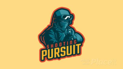 Animated Gaming Logo Maker Featuring a Soldier Aiming His Rifle 1743aa-2929