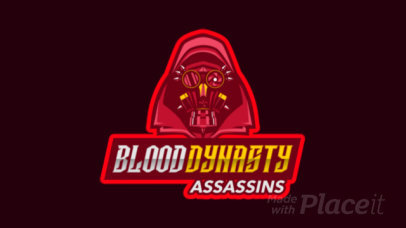 Animated Gaming Logo Creator Featuring a Masked Cyborg 2754y-2926